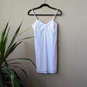 Lilly Pulitzer White Eyelet Lace Mini Dress size 6